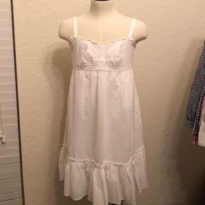 J crew Swiss dot white dress